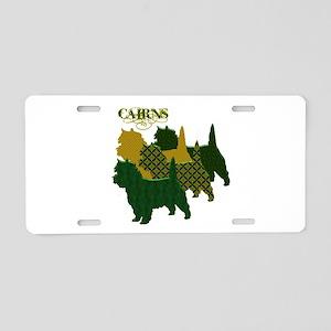 Cairn Terrier Silhouttes Aluminum License Plate