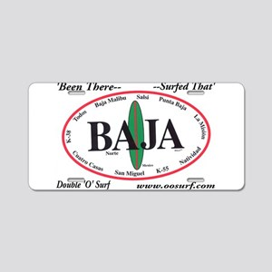 Baja Norte Surf Spots Aluminum License Plate