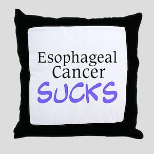 Esophageal Cancer Sucks Throw Pillow