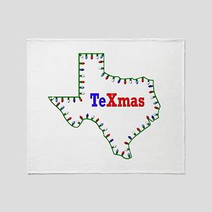 TeXmas Lights Throw Blanket