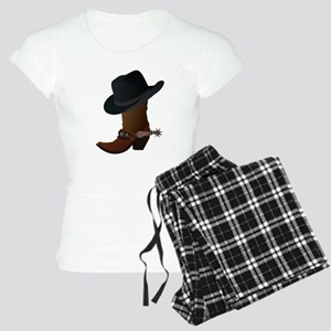 Western Boot & Hat Icon Women's Light Pajamas