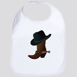 Western Boot & Hat Icon Bib