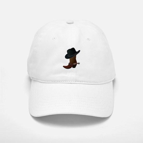 Western Boot & Hat Icon Baseball Baseball Cap