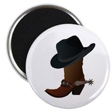 Western Boot & Hat Icon Magnet