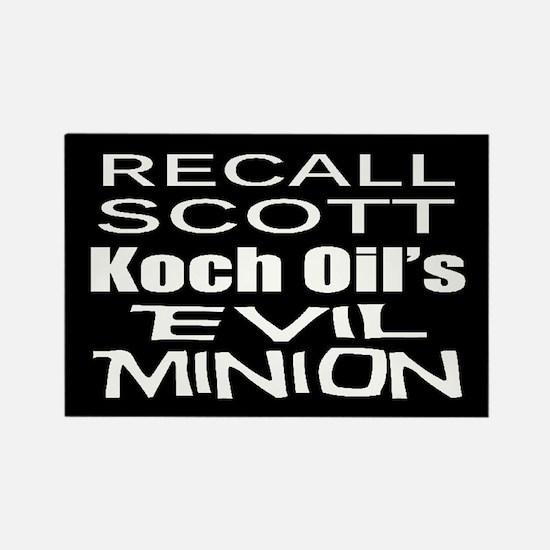 Recall Governor Rick Scott Rectangle Magnet