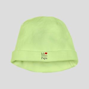 I Love Dad (German) baby hat