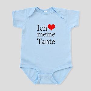 I Love Aunt (German) Infant Bodysuit