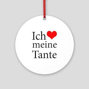 I Love Aunt (German) Ornament (Round)