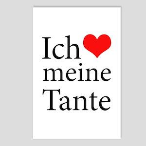 I Love Aunt (German) Postcards (Package of 8)