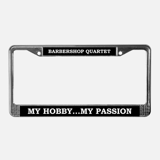 Barbershop Quartet License Plate Frame
