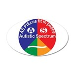 Autistic Spectrum Eye 20x12 Oval Wall Decal