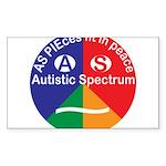 Autistic Spectrum symbol Sticker (Rectangle 10 pk)