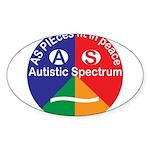 Autistic Spectrum symbol Sticker (Oval 10 pk)