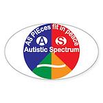 Autistic Spectrum Eye Sticker (Oval)