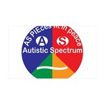 Autistic Spectrum symbol 35x21 Wall Decal