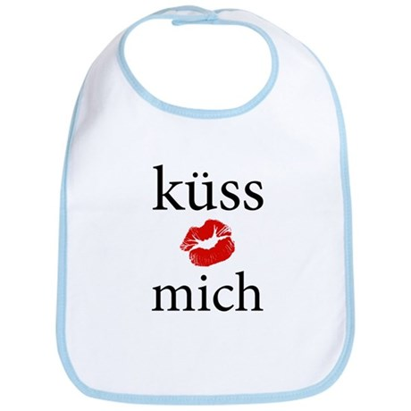 Kiss Me (German) Bib