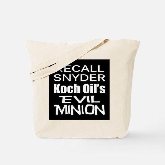 Recall Governor Rick Snyder Tote Bag