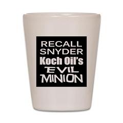 Recall Governor Rick Snyder Shot Glass