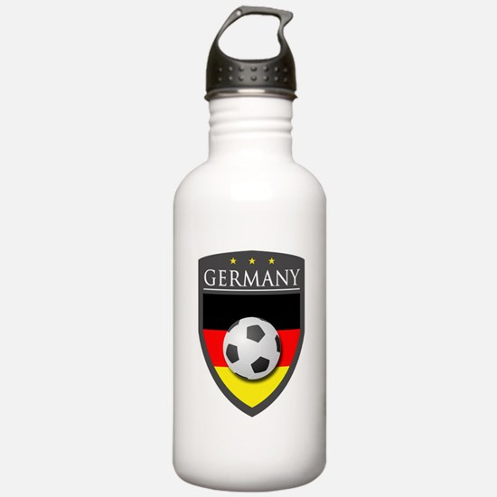 Germany Soccer Patch Water Bottle
