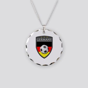 Germany Soccer Patch Necklace Circle Charm
