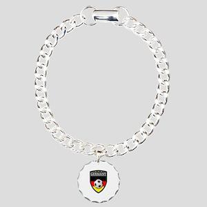 Germany Soccer Patch Charm Bracelet, One Charm