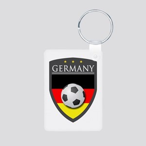 Germany Soccer Patch Aluminum Photo Keychain