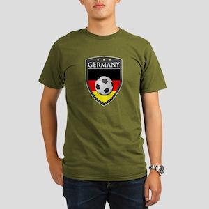 Germany Soccer Patch Organic Men's T-Shirt (dark)