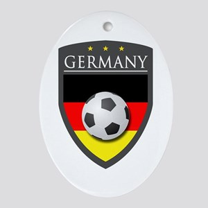 Germany Soccer Patch Ornament (Oval)