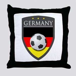 Germany Soccer Patch Throw Pillow