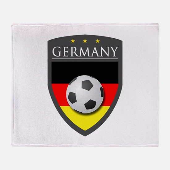Germany Soccer Patch Throw Blanket