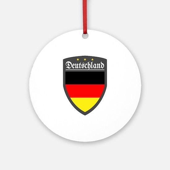 Germany (Deutsch) Patch Ornament (Round)