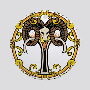 Aries Ornament (Round)