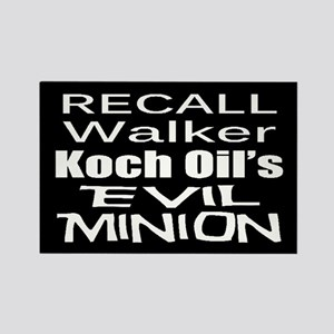 Recall Scott Walker Rectangle Magnet