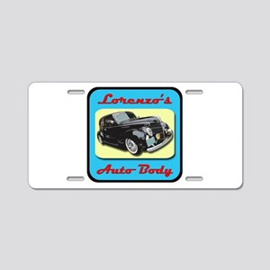 Lorenzo's Auto Body Aluminum License Plate