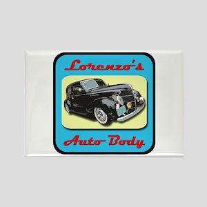 Lorenzo's Auto Body Rectangle Magnet
