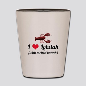 I Love Lobstah Shot Glass