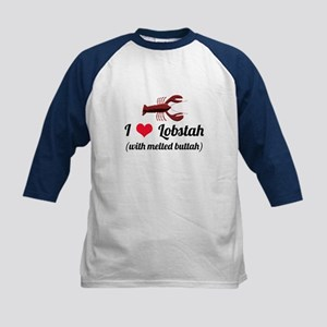I Love Lobstah Kids Baseball Jersey