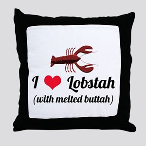 I Love Lobstah Throw Pillow