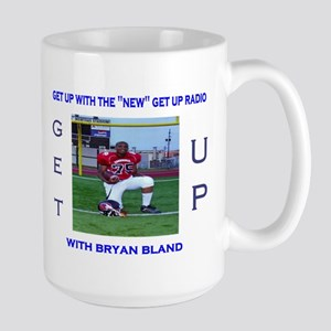 get up radio co-hosts Large Mug