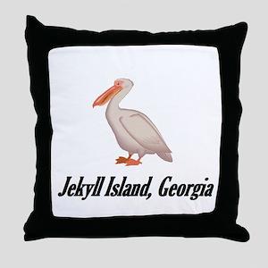 Pelican-3 Throw Pillow
