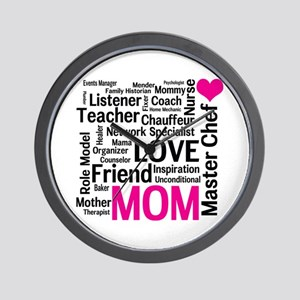 Mothers Day or Mom's Birthday Wall Clock