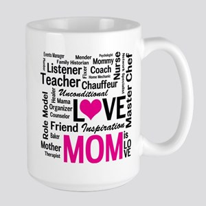 Do it All Mom, Mother's Day, Birthday Large Mug
