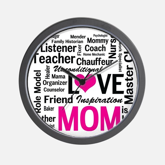 Do it All Mom, Mother's Day, Birthday Wall Clock