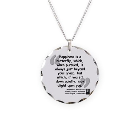Hawthorne Happiness Quote Necklace Circle Charm
