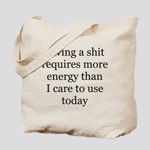 giving a shit Tote Bag