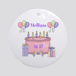 Personalized Birthday Girl Ornament (Round)