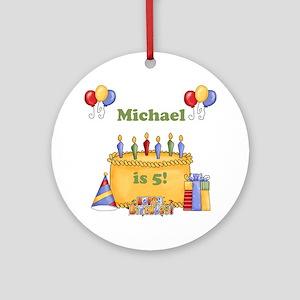 Boys Personalized Birthday Ornament (Round)
