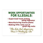Jobs for Illegals Postcards (Package of 8)