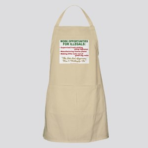Jobs for Illegals BBQ Apron