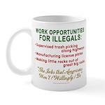 Jobs for Illegals Mug